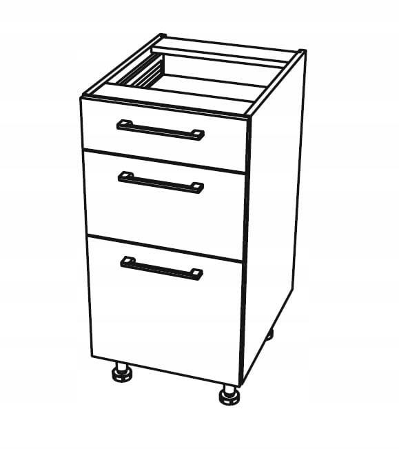 Нижний кухонный шкаф с 3 ящиками 45 см KAMMONO P4