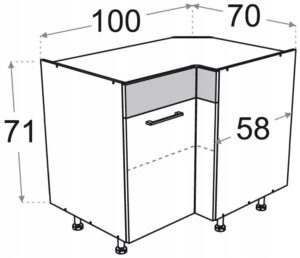 Угловое основание 100 x 70 см P / L Kamduo ML