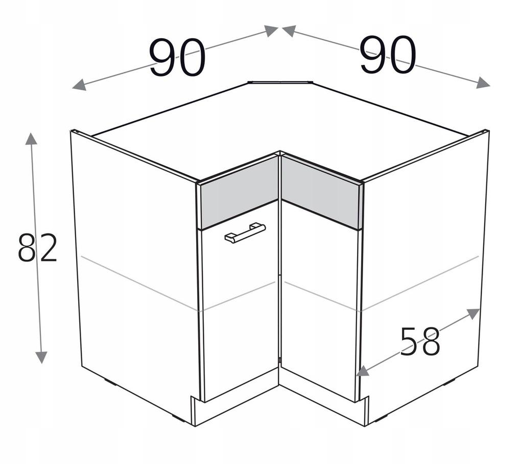 Угловой шкаф 90см x 90см KD