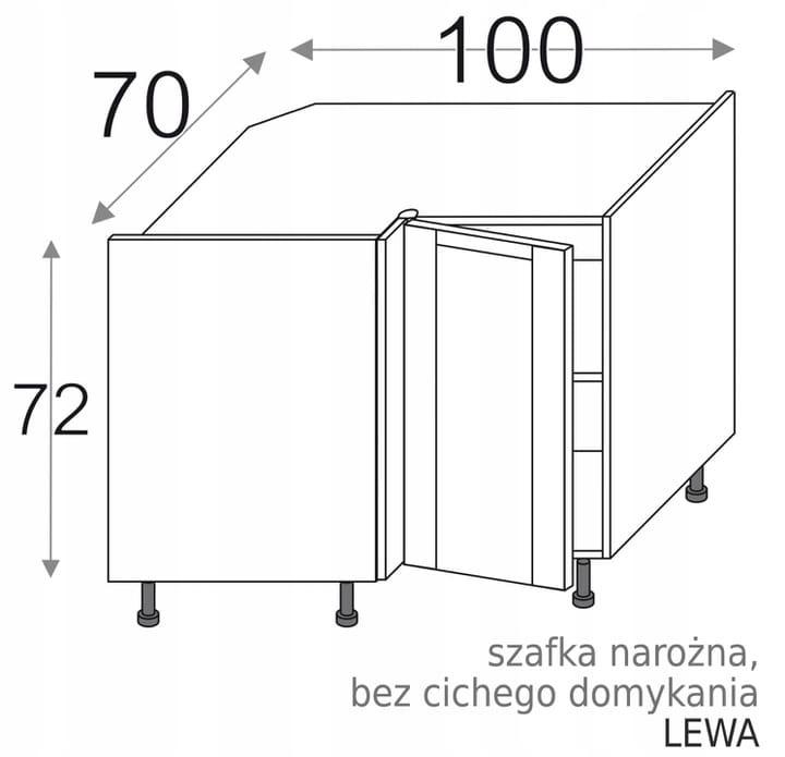УГЛОВОЙ ШКАФ 100x70 ЛЕВЫЙ OLIVIA SOFT