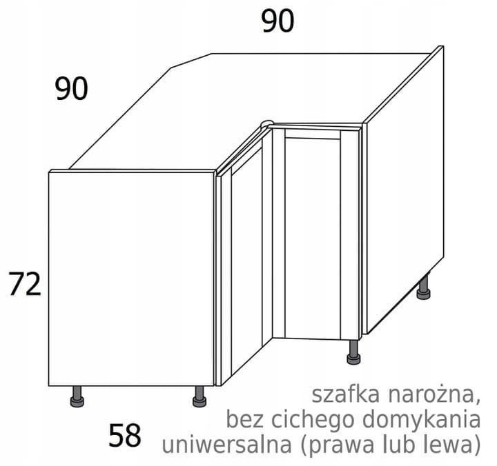 УГЛОВОЙ ШКАФ 90x90см OLIVIA SOFT