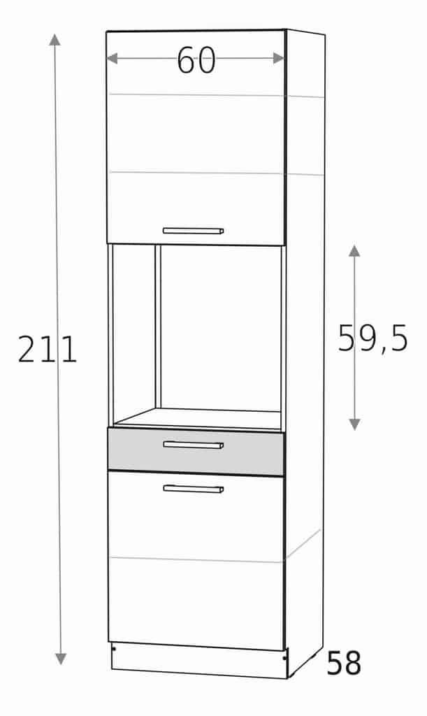 Духовка встроенный шкаф 1 ящик KD