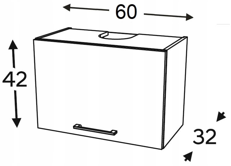 Шкаф навесной карниз 60 см KAMMONO F4F5F7