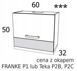 ШКАФ 60см НАД ВЫПОЛНЕНИЕМ С ВЫТЯЖКОЙ KAMDUO XL