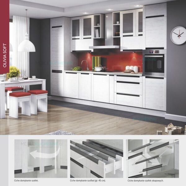 Шкаф столбик Olivia Soft Black SD50D2 дуб серый