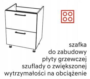 Шкаф с плитами 80 см KAMMONO P4