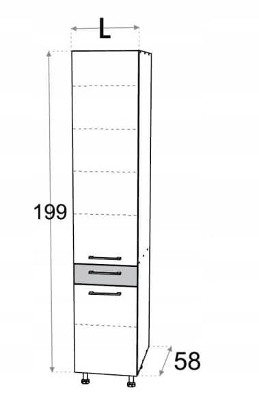 Тумба высотой 60 см с полками Kamduo ML