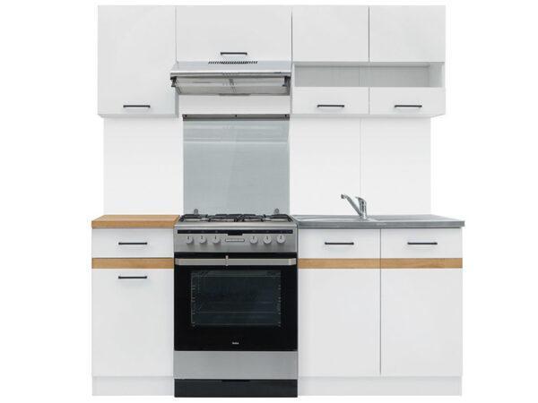 JUNONA LINE 180 Кухня белый/белый глянец BRW