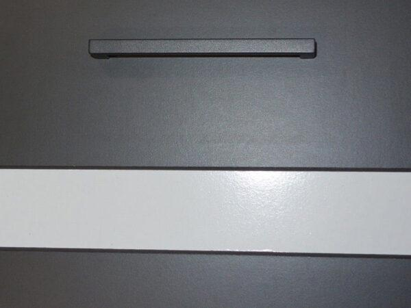JUNONA LINE 230 Кухня серый/белый глянец BRW