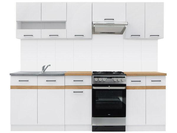 JUNONA LINE 230 Кухня белый/белый глянец BRW