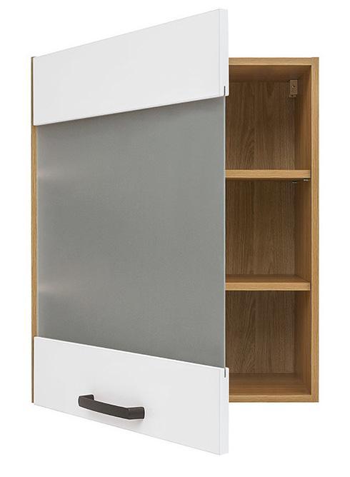 Кухонная витрина навесная G-60/72-LV/PV SEMI LINE BRW