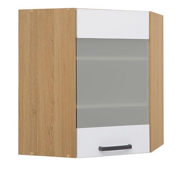 Кухонная витрина навесная угловая GNWU-60/72-LV/PV SEMI LINE BRW