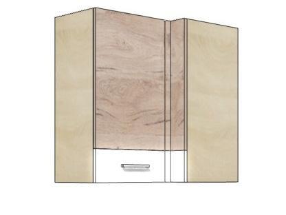Кухонный шкаф навесной угловой ECO-44G ECONO FADOME