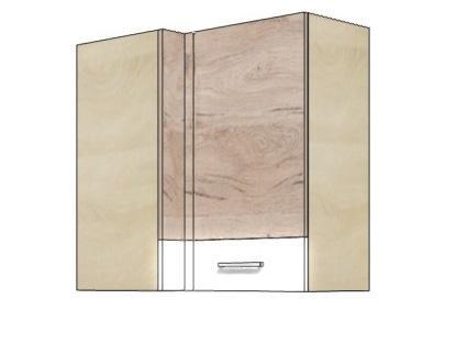 Кухонный шкаф навесной угловой ECO-45G ECONO FADOME