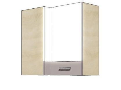 Кухонный шкаф навесной угловой GLO-45G GLOBAL FADOME