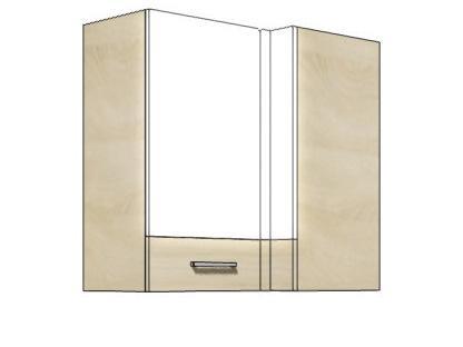 Кухонный шкаф навесной угловой PRE-44G PREMIO FADOME
