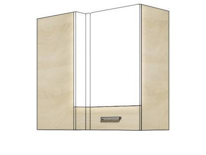 Кухонный шкаф навесной угловой PRE-45G PREMIO FADOME