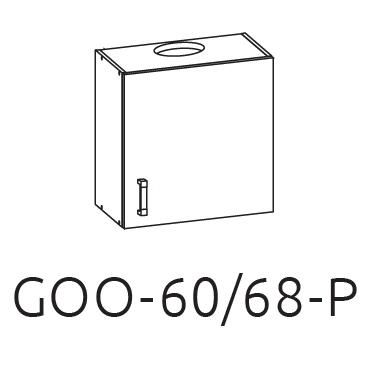 Шкаф верхний карниз GOO 60/68 LP