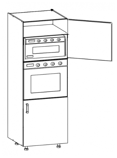 Напольный шкаф для встраиваемой бытовой техники DPS 60/207 LP / LP