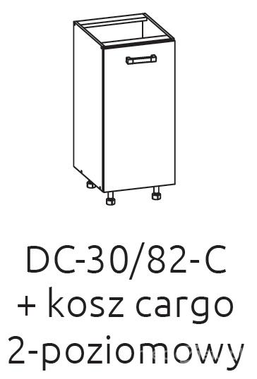 Нижний шкаф с грузовой корзиной DC 30/82