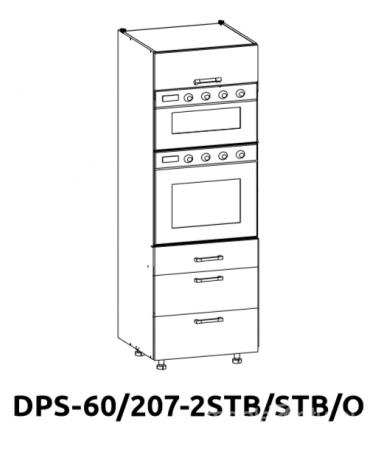 Встроенный бытовой шкаф DPS 60/207 2STB / STB / O
