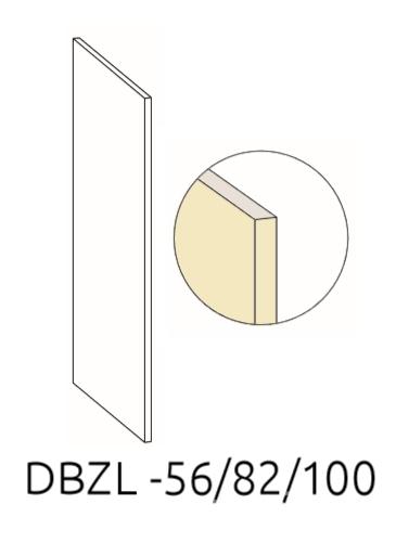 Левый маскирующий экран DBZL 56/82/100