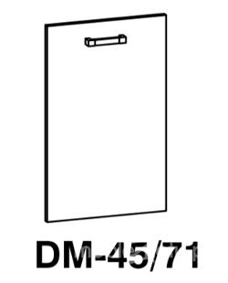 Передняя панель встроенной посудомоечной машины DM 45/71