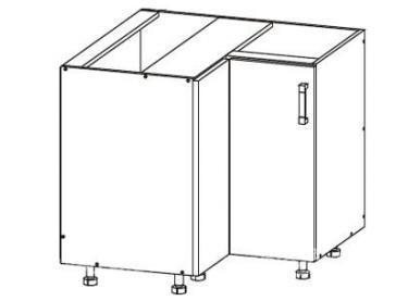 Угловой шкаф DNW 90/82 L / P