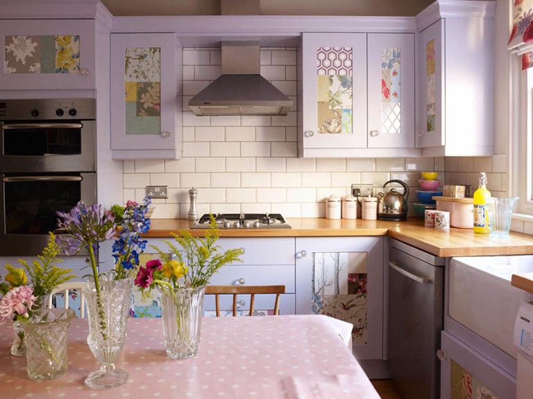 Как смотрится кухня сиреневого цвета