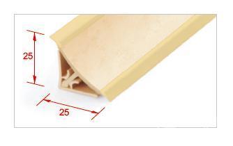 Отделка столешницы, внутренний угол 135 градусов, бежевый