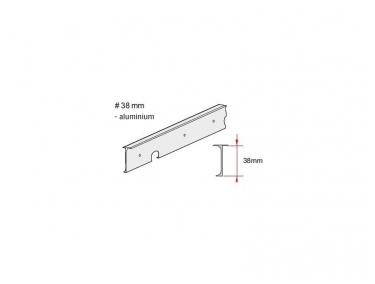 Алюминиевая угловая планка 38 мм