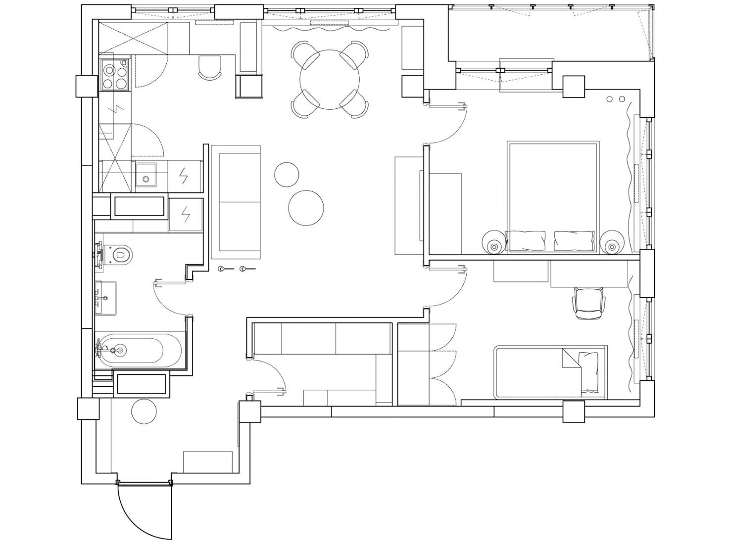 Татьяна и Дмитрий Хорошевы: бюджетная квартира 70 кв. метров «под ключ»